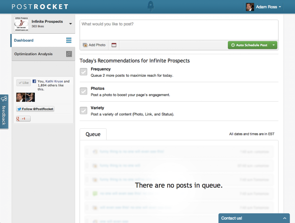 PostRocket Home Page