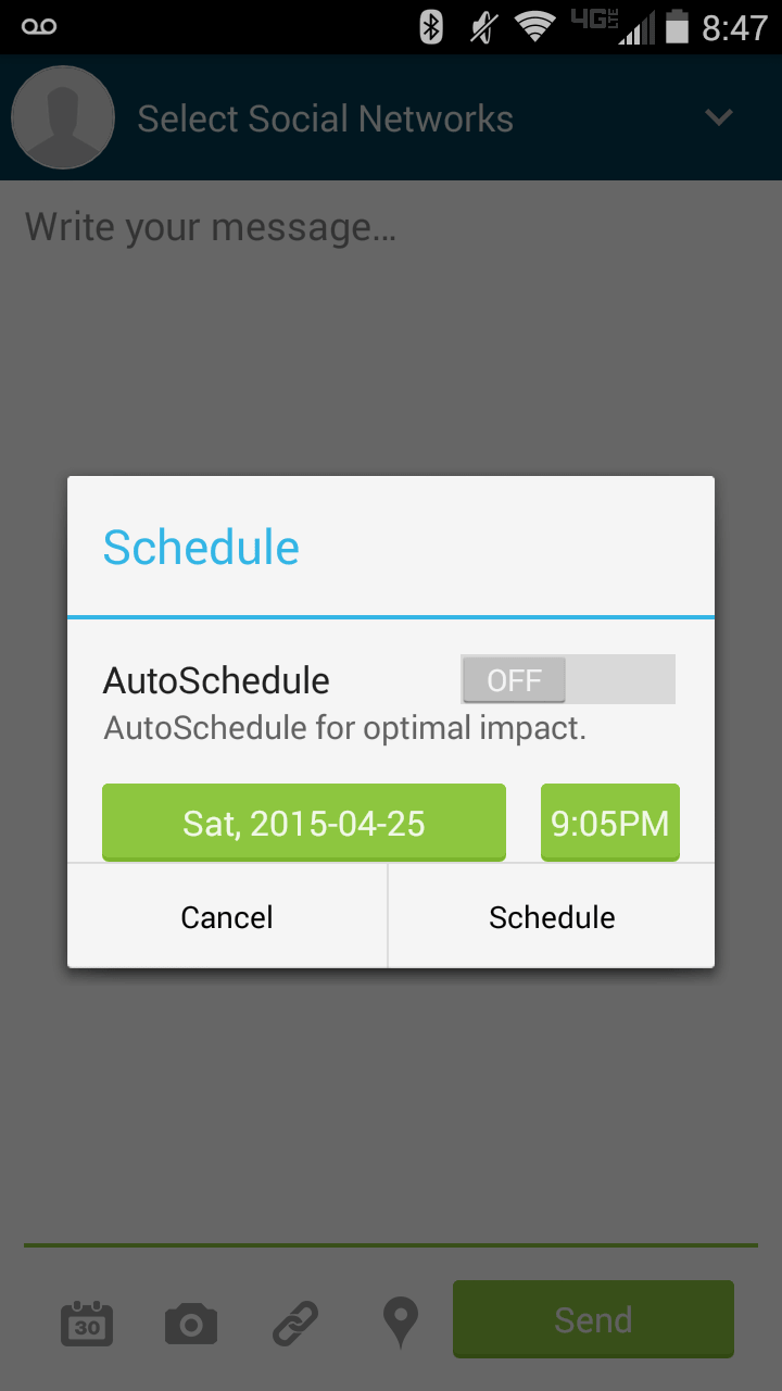 Android-Hootsuite-select-posting-time